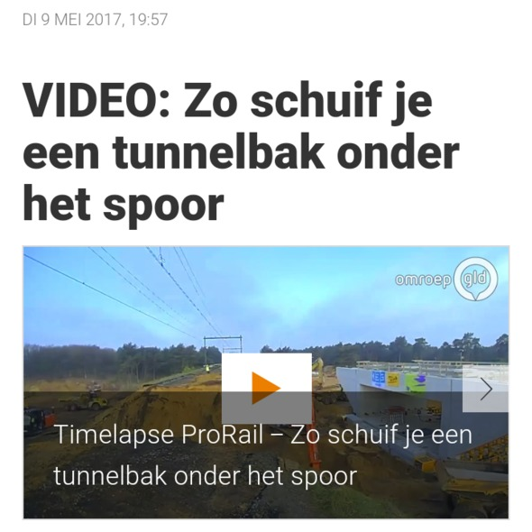 Sc video tunnelbak maanschoten